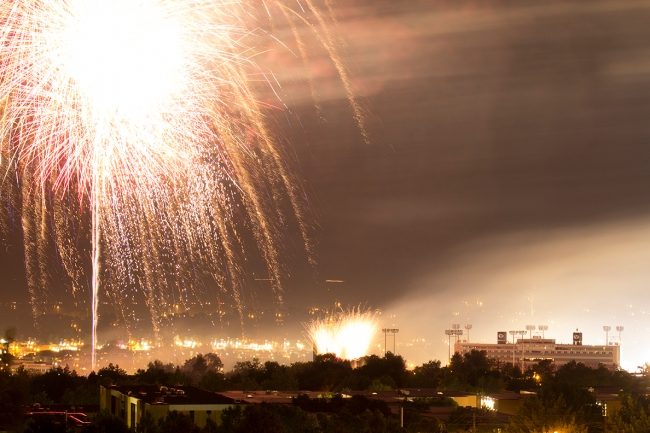 One of my photos from Provo's stadium of fire (featuring Carly Rae Jepsen and Kelly Clarkson) fireworks display.