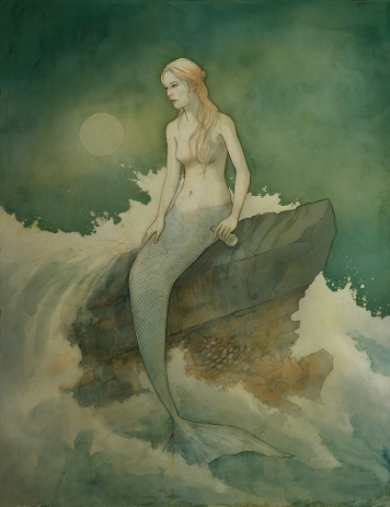 Mermaid digital color sanshells squish2 blog