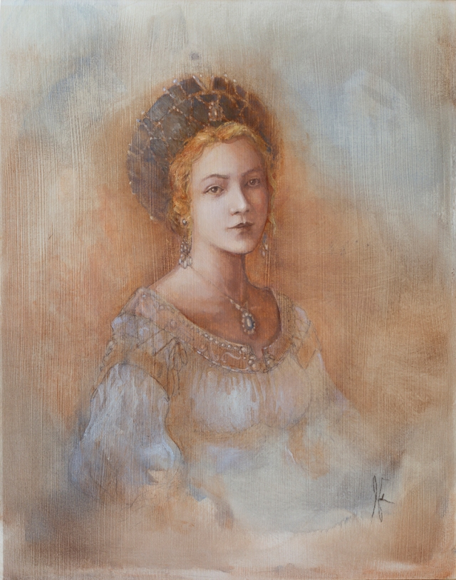Oil painting portrait of princess by Jameson Gardner